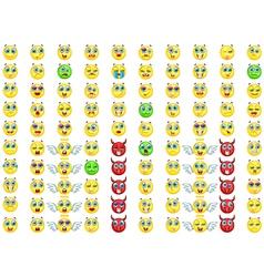 Big emoticon set for you design vector
