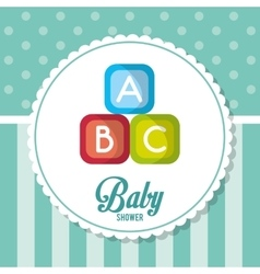 Blocks of baby shower card design vector
