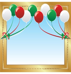 christmas balloons vector image vector image