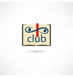 Club open book vector image