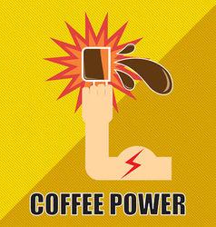 Coffee Power vector image