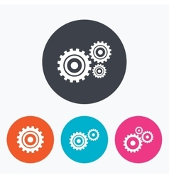 Cogwheel gear icons Mechanism symbol vector image