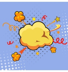 Comic speech bubble cartoon vector