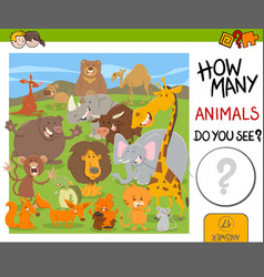 count animals game for kids vector image vector image