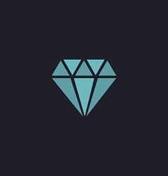 Diamond computer symbol vector image vector image