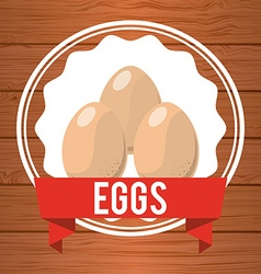 eggs label vector image vector image