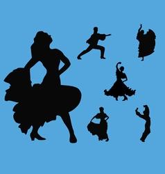 flamenco collection vector image vector image