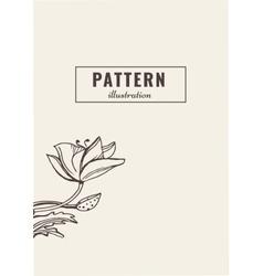 Flower template card vector