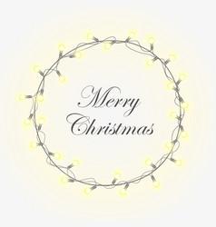 glowing christmas wreath vector image