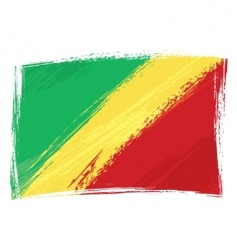 grunge Congo flag vector image vector image