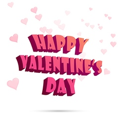 Happy Valentine s Day sign Typography vector image vector image