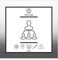 Hierarchy - line icon vector