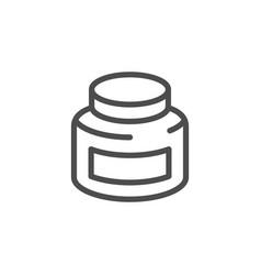 jar line icon vector image vector image