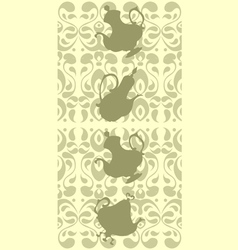 Lacy border vector