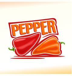 logo for pepper vector image vector image