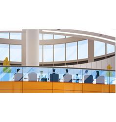 Modern business center office building vector