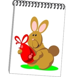 Notes with hare in color 07 vector image vector image