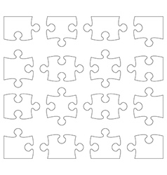 Puzzle separate pieces vector