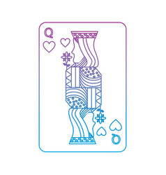 Queen of hearts french playing cards related icon vector