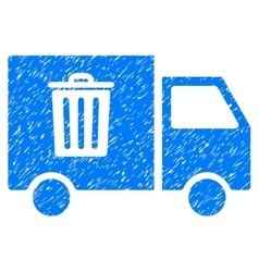 Rubbish transport van grainy texture icon vector