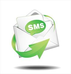 SMS mail vector image