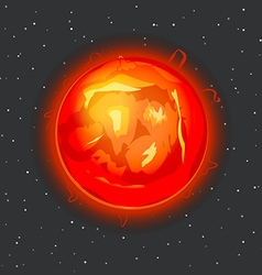 Sun in space vector image