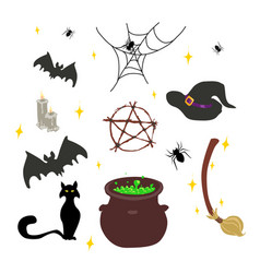 wicca wichcraft set vector image