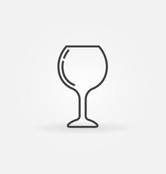 wine glass simple icon vector image vector image