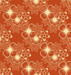 Seamless flowerr pattern vector