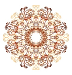 Ornate flowers henna colors mandala vector