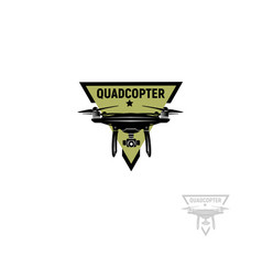Isolated triangular shape green color quadrocopter vector