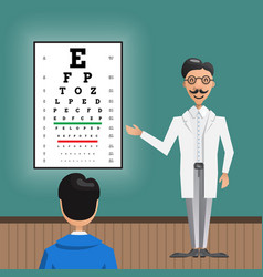 ophthalmologist eye testing vector image