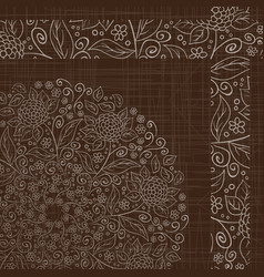 Abstract retro floral pattern vector