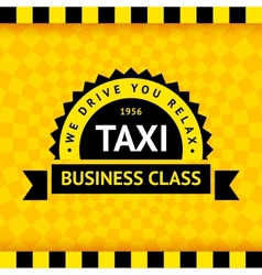 Taxi symbol with checkered background - 07 vector