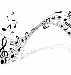 Musical notes backgrounds vector