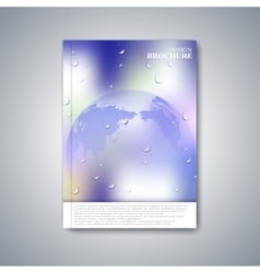Modern abstract layout brochure magazine flyer vector