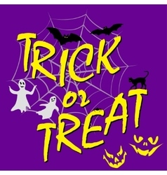 Trick ot treat card vector
