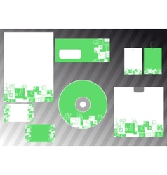 Abstract business template - green corporate style vector