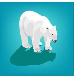 Polar bear on blue background eps 10 vector