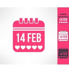 Set of valentines calendar reminder symbols vector