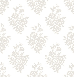 Seamless light floral wallpaper vector
