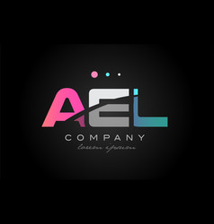 ael a e l three letter logo icon design vector image vector image