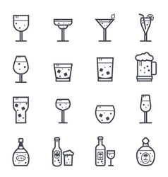 Alcohol beverage icon bold stroke vector