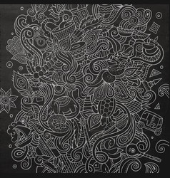 Cartoon cute doodles hand drawn india vector