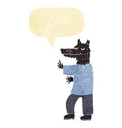 Cartoon werewolf with speech bubble vector
