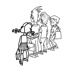 Children at school threat vector image vector image