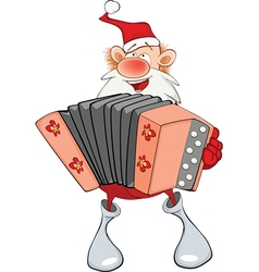 Cute Santa Claus Accordion Player vector image vector image
