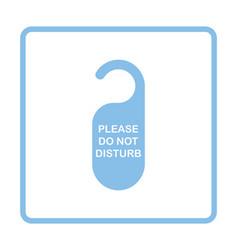 Dont disturb tag icon vector