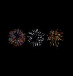 firework bursting shapes vector image