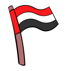 flag of egypt icon cartoon vector image